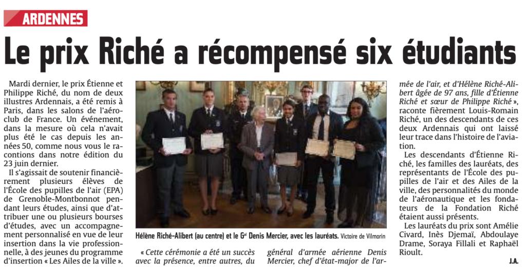 Le prix de Riché a récompensé six étudiants |L'Union l'Ardennais